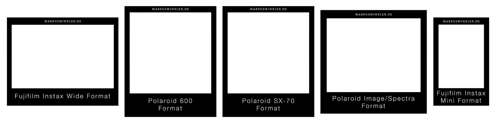 gr e der sofortbildformate die wichtigen gr en in einer liste. Black Bedroom Furniture Sets. Home Design Ideas